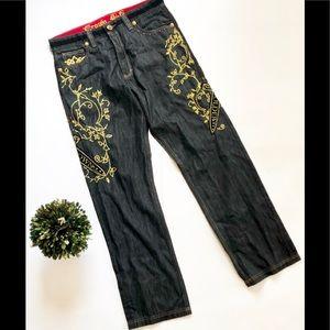 Mens Regis Vestio Crown Holder Stitched Jeans - 34